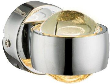 XXXLutz LED-WANDLEUCHTE , Silber, Metall, Glas, 40 mm, 7.5 cm