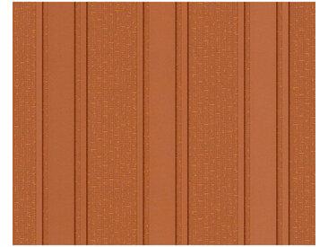 XXXLutz VLIESTAPETE 10,05 m , Orange, Streifen, 70x1005 cm