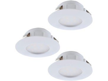 Eglo Leuchten Gmbh EINBAULEUCHTENSET 3-teilig PINEDA , Weiß, Kunststoff
