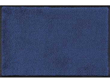Esposa FUßMATTE 120/180 cm Uni Blau , 120 cm