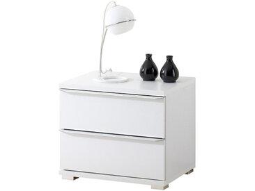 Moderano NACHTKÄSTCHEN Weiß , Glas, 40x44x40 cm