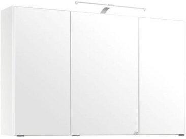 Xora SPIEGELSCHRANK Weiß , Glas, 6 Fächer, 100x64x20 cm