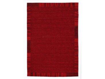 Novel FLACHWEBETEPPICH 120/180 cm Rot , Bordüre, 120x180 cm