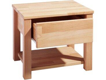 Carryhome NACHTKÄSTCHEN Buche massiv Braun , Holz, 45x37x38 cm