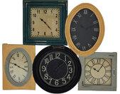 WANDUHR , Mehrfarbig , Holz , Mangoholz , 101x83x7 cm , Dekoration, Uhren, Wanduhren