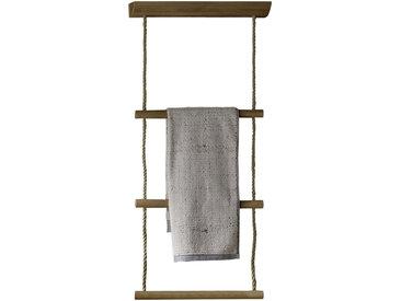 Voglauer HANDTUCHLEITER, Braun, Holz, Eiche, furniert, mehrschichtige Massivholzplatte (Tischlerplatte), 48x109x16 cm