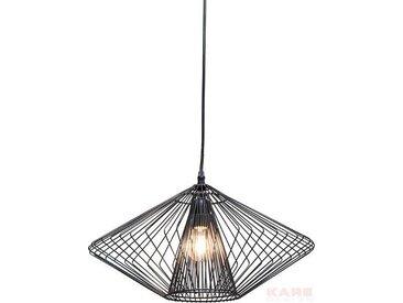 Kare-Design HÄNGELEUCHTE, Schwarz, Metall, 44x24x44 cm