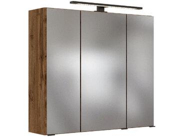 Carryhome SPIEGELSCHRANK Braun , Glas, 2 Fächer, 70x64x20 cm