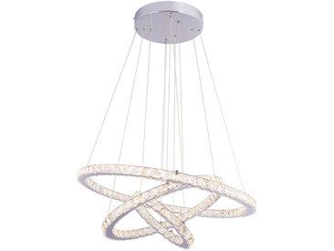 XXXLutz LED-HÄNGELEUCHTE , Weiß, Silber, Metall, Glas, 120 cm