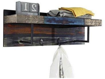 Livetastic GARDEROBENLEISTE Akazie, Mangoholz massiv Mehrfarbig , Holz, Metall, 90x30x25 cm