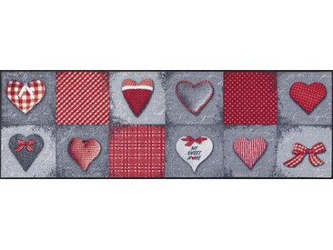 Esposa FUßMATTE 60/180 cm Graphik Rot , 60x180 cm