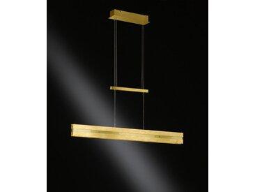 XXXLutz LED-HÄNGELEUCHTE , Gold, Metall, Glas, 91x150x8 cm