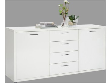 Carryhome: Kommode, Holzwerkstoff, Weiß, B/H/T 180 85,5 45