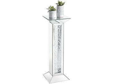 Xora DEKOSÄULE verspiegelt Glas , Silber, 30.5x89x30.5 cm