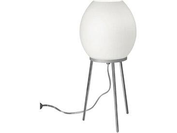 Tischleuchte, Weiß, Chrom, H 40