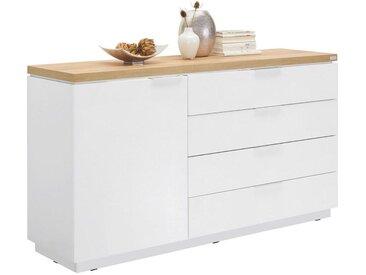 Xora: Kommode, Holzwerkstoff, Weiß, B/H/T 157,5 88,5 43