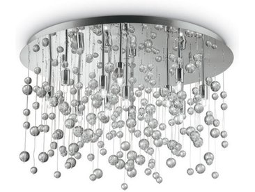 XXXLutz DECKENLEUCHTE, Chrom, Metall, Glas, 31.5 cm