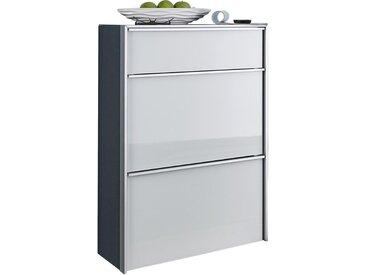 Dieter Knoll SCHUHKIPPER Weiß, Silber , Metall, Glas, 63x98x33.5 cm