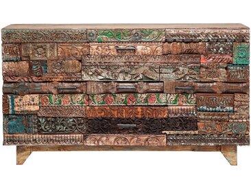 Kare-Design SIDEBOARD Mangoholz massiv gewachst Mehrfarbig , Holz, massiv, 2 Fächer, 160x90x42 cm