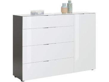 XXXLutz KOMMODE Weiß, Braun , 2 Fächer, 136x100x40 cm
