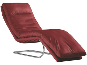 Chilliano LIEGE Echtleder Rot , Leder, 1-Sitzer, 65x101x158 cm