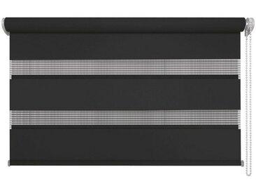 XXXLutz DUOROLLO halbtransparent 140/160 cm , Weiß, Streifen, 140x160 cm