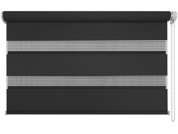 XXXLutz DUOROLLO halbtransparent 140/160 cm , Weiß, Streifen, 140 cm