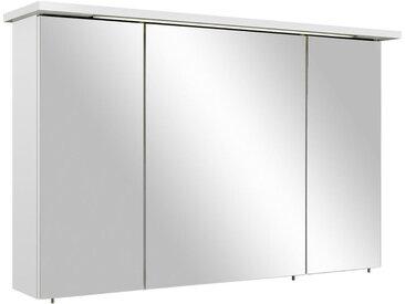 Xora SPIEGELSCHRANK Weiß , 6 Fächer, 115x72x20 cm