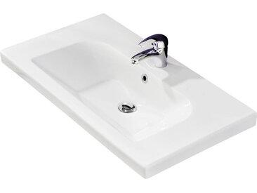 Xora WASCHBECKEN, Weiß, Keramik, 83x4x45 cm