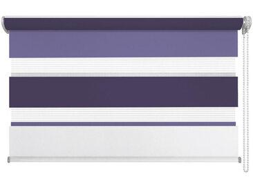 Homeware DUOROLLO halbtransparent 140/160 cm , Weiß, Rot, Lila, Kunststoff, 140x160 cm