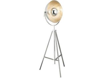 XXXLutz STEHLEUCHTE, Grau, Silber, Metall, 180 cm