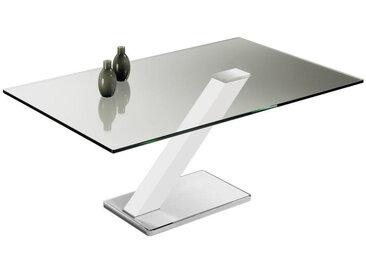 Novel COUCHTISCH rechteckig , Metall, Glas, 70x46x110 cm