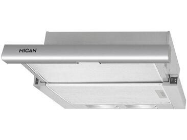 Mican Flachschirmhaube 60400, Silber, Metall, 60x17.4x32.5-42.2 cm