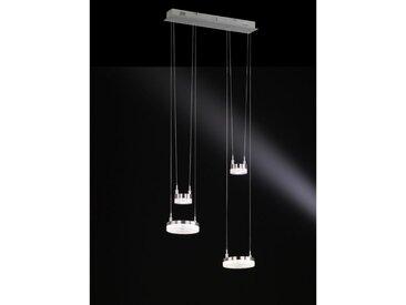 XXXLutz LED-HÄNGELEUCHTE , Silber, Metall, Kunststoff, 45x150x15 cm
