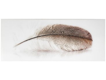 Monee: Glasbild, Braun, Grau, Weiß, Beige, B/H 125 50