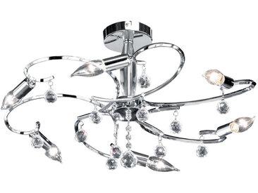 XXXLutz DECKENLEUCHTE, Weiß, Chrom, Metall, Glas, 34 cm