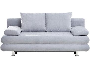 Carryhome SCHLAFSOFA Mikrofaser Blau , 2-Sitzer, 196x74x90 cm