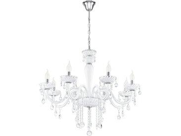 Eglo Leuchten Gmbh KRONLEUCHTER, Weiß, Chrom, Metall, Kunststoff, 3.5 mm, 110 cm