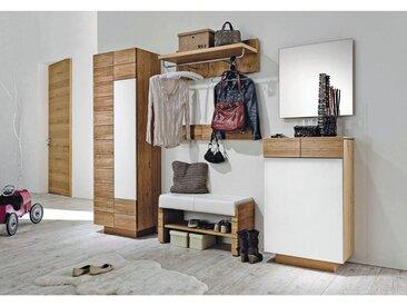 Voglauer GARDEROBENLEISTE Wildeiche massiv Braun , Holz, 96x15.6x5.2 cm