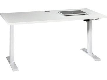XXXLutz SCHREIBTISCH Weiß , Metall, 150x72.5-120x80 cm