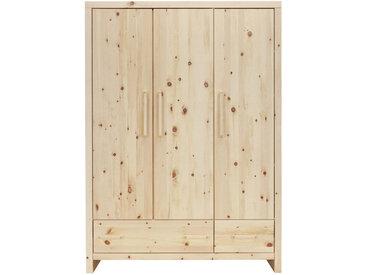 Jimmylee BABYKLEIDERSCHRANK Zirbe Mehrfarbig , Holz, Zirbelkiefer, massiv, 3 Fächer, 145x200x56 cm