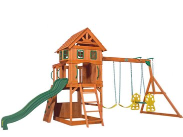 XXXLutz Spielturm Atlantic , Braun, Mehrfarbig, Holz, Metall, Kunststoff, Zeder, 551.2x284.5x236.2 cm