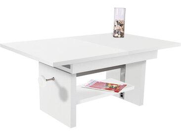 Livetastic COUCHTISCH rechteckig Weiß , 65x46(64) cm