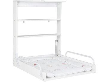 Roba WANDWICKELTISCH Weiß , Holz, 2 Fächer, 75 cm