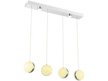 XXXLutz LED-HÄNGELEUCHTE , Weiß, Metall, Kunststoff, 84 mm, 12x120x76 cm