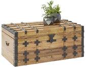 Livetastic TRUHE , Natur, Schwarz , Holz, Metall , Mangoholz , massiv , 100x45x55 cm , Deckel, Deckel aufklappbar , Wohnzimmer, Kleinmöbel, Truhen