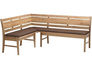 Venda ECKBANK Wildeiche teilmassiv Braun , Holz, 6-7-Sitzer