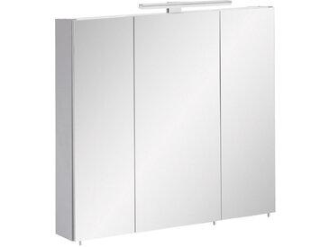 Stylife SPIEGELSCHRANK Grau , Glas, 6 Fächer, 70x71x16 cm