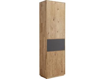 Waldwelt GARDEROBENSCHRANK Eiche massiv Braun , Holz, 1 Fächer, 60x205x38 cm