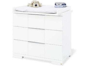 XXXLutz WICKELKOMMODE Pinolino Polar Weiß , Metall, 78x98 cm
